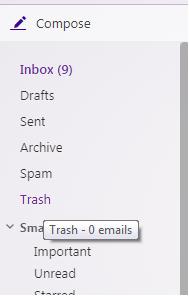 برگرداندن ایمیل حذف شده یاهو