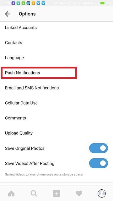 آموزش غیرفعال کردن پیام Live Video Notifications در اینستاگرام